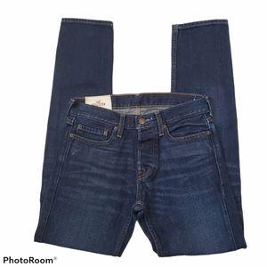 Hollister men's medium wash straight leg jeans